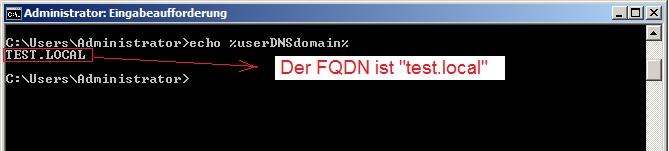 FQDN mit %userDNSdomain