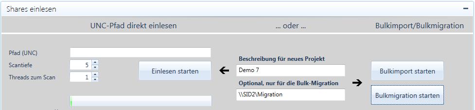 Projektverwaltung-Migrationsstart